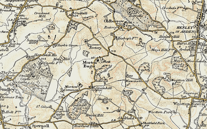 Old map of Bannam's Wood in 1899-1902