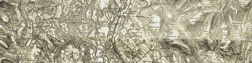Old map of White Snout in 1904-1905