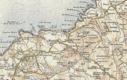 Old map of Morvah in 1900
