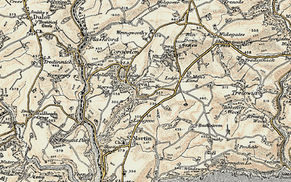 Old map of Morval in 1900