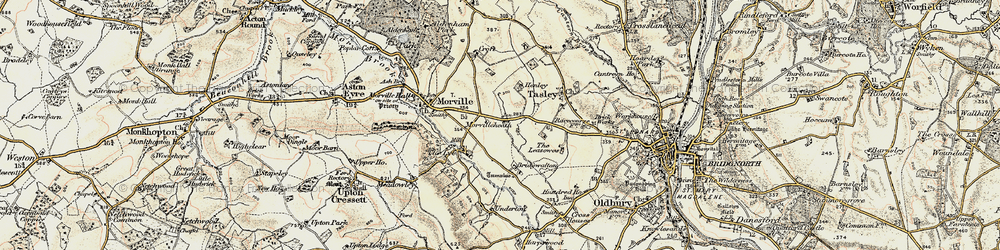 Old map of Tiddle Brook in 1902