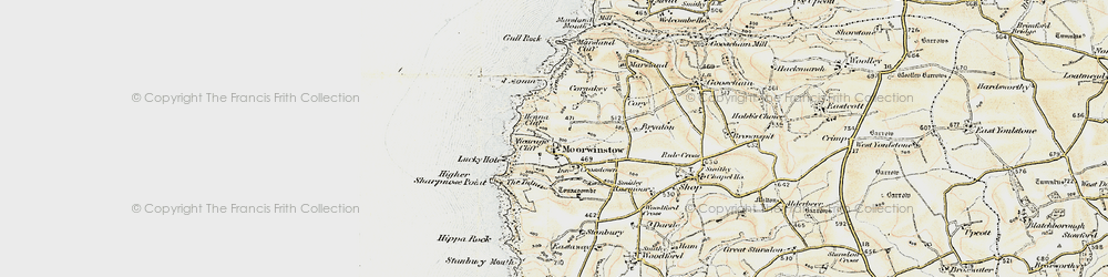 Old map of Morwenstow in 1900