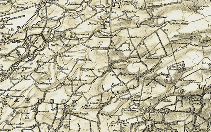 Old map of Alton Burn in 1905-1906