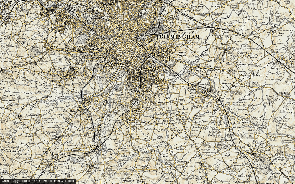 Old Map of Moseley, 1901-1902 in 1901-1902