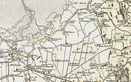 Old map of Wrampool Ho in 1903-1904