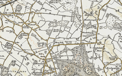 Old map of Moss Side in 1902-1903