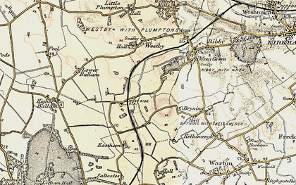 Old map of Wrea Brook in 1903
