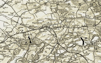 Old map of Afton Lodge in 1904-1906
