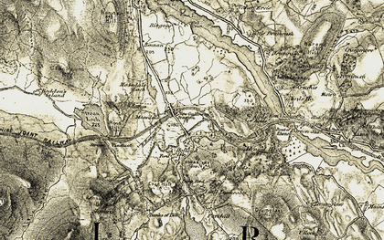 Old map of Acre Burn in 1905