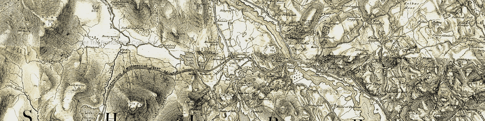 Old map of Woodhall Loch in 1905