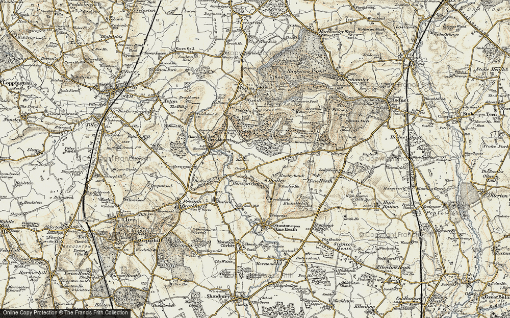 Old Map of Moston, 1902 in 1902
