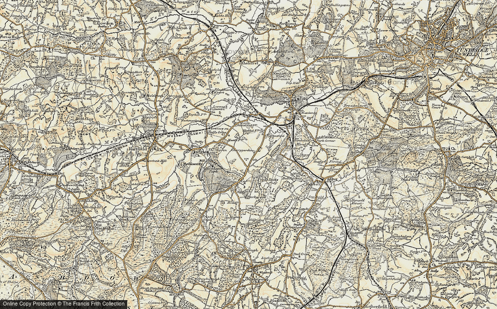 Old Map of Historic Map covering Leyswood in 1897-1898
