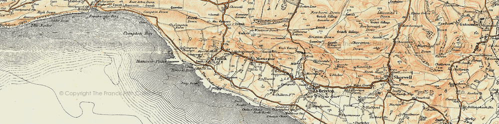 Old map of Westover Down in 1899-1909