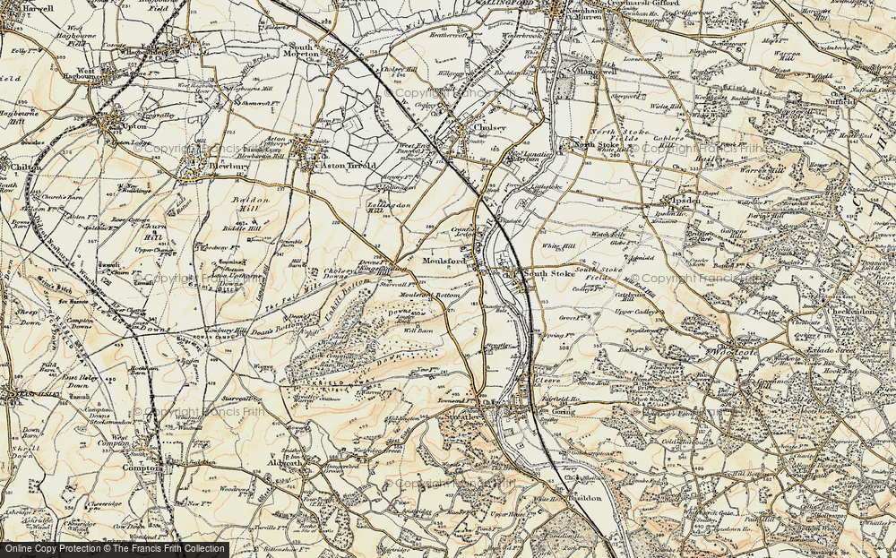 Old Map of Moulsford, 1897-1900 in 1897-1900