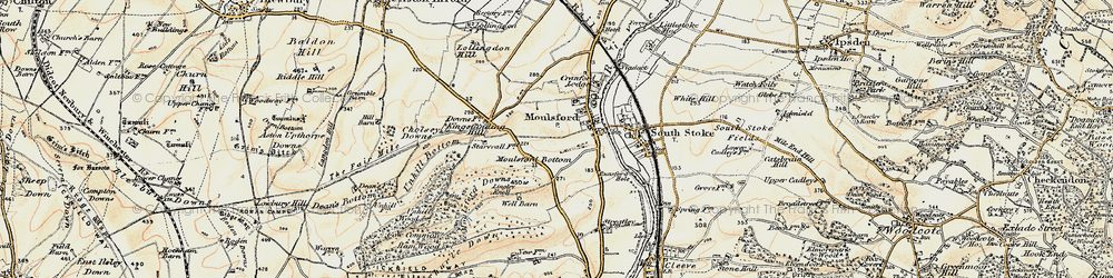 Old map of Moulsford in 1897-1900