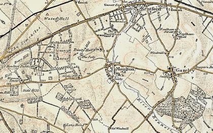 Old map of Ashley Heath Stud in 1899-1901