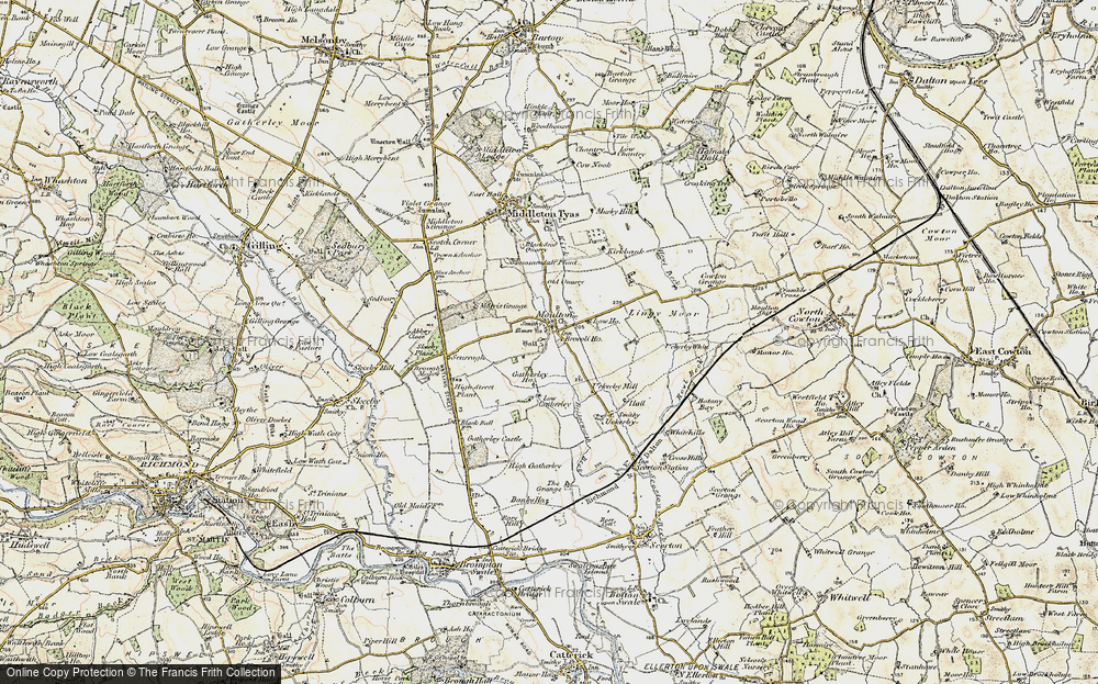 Old Map of Historic Map covering Abbey Close in 1903-1904