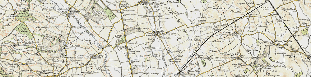 Old map of Abbey Close in 1903-1904