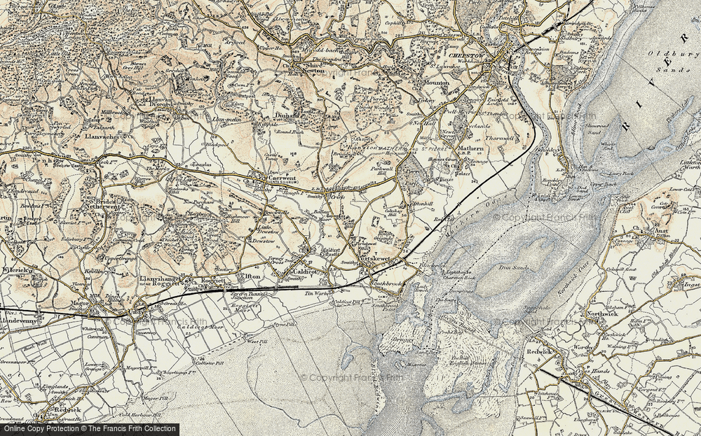 Old Map of Historic Map covering Ballan Moor in 1899