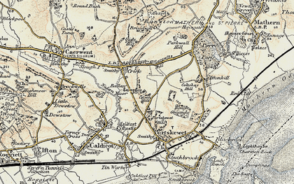 Old map of Ballan Moor in 1899
