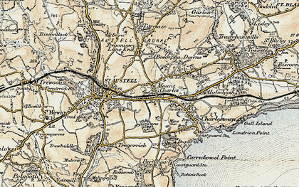 Old map of Mount Charles in 1900