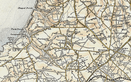 Old map of Mount Hawke in 1900