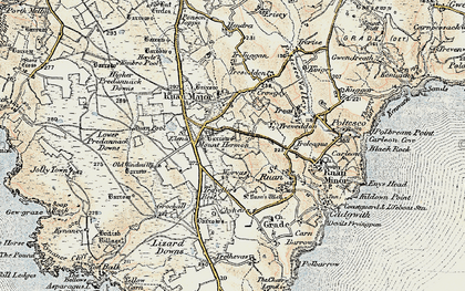 Old map of Mount Hermon in 1900