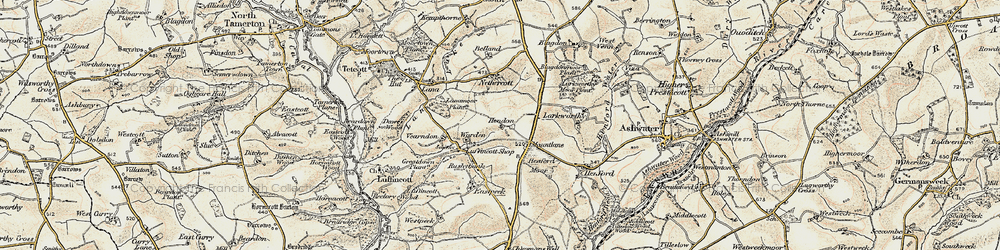 Old map of Yendon in 1900