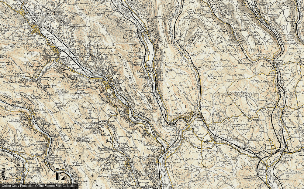 Old Map of Mount Pleasant, 1899-1900 in 1899-1900