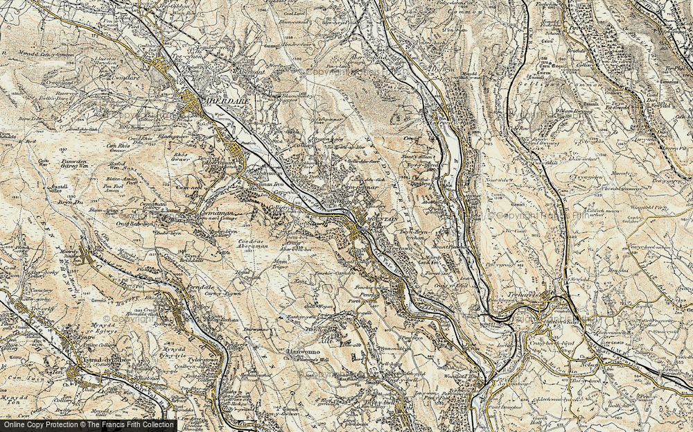 Old Map of Mountain Ash, 1899-1900 in 1899-1900