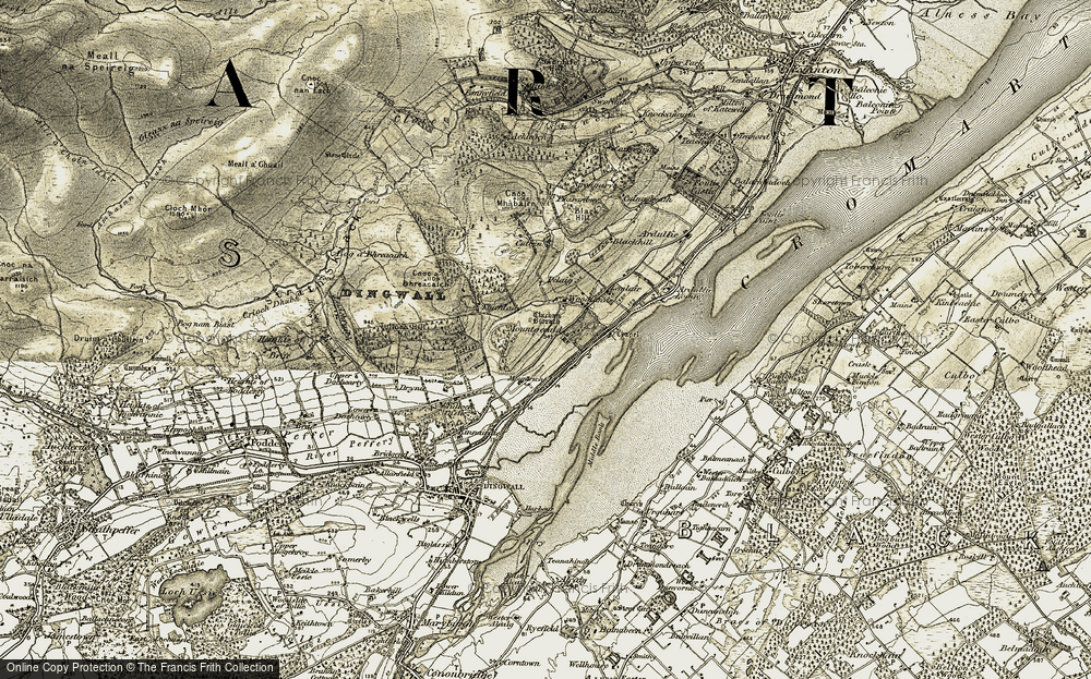 Old Map of Historic Map covering Woodlands in 1911-1912