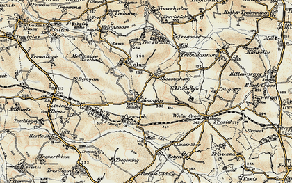 Old map of Mountjoy in 1900