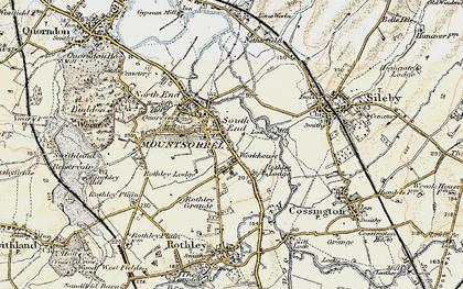 Old map of Mountsorrel in 1902-1903