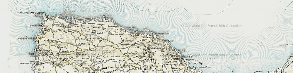 Old map of Windbury Point in 1900