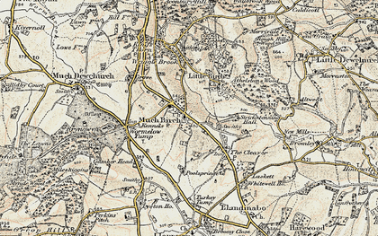 Old map of Much Birch in 1900