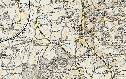 Old map of Much Dewchurch in 1900