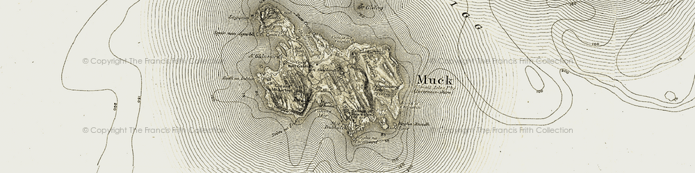 Old map of A' Ghlasaird in 1906-1908