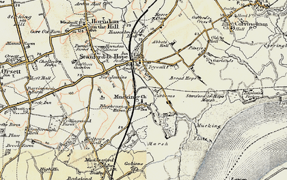Old map of Mucking in 1897-1898