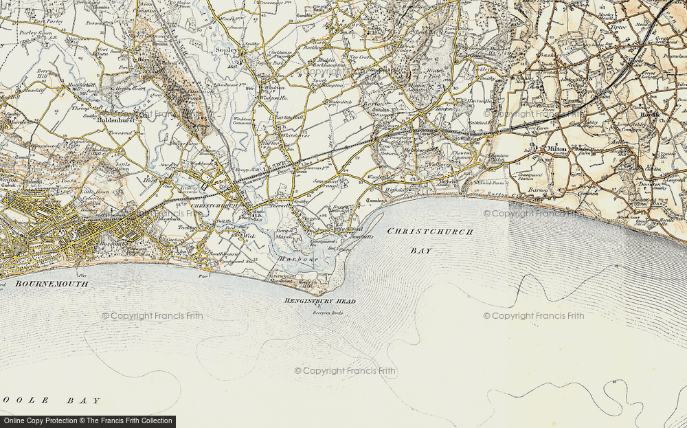 Old Map of Mudeford, 1899-1909 in 1899-1909