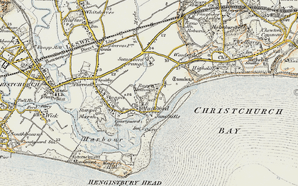 Old map of Mudeford in 1899-1909