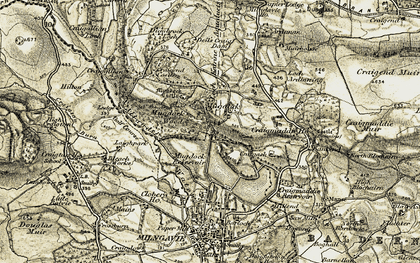 Old map of Mugdock in 1904-1907