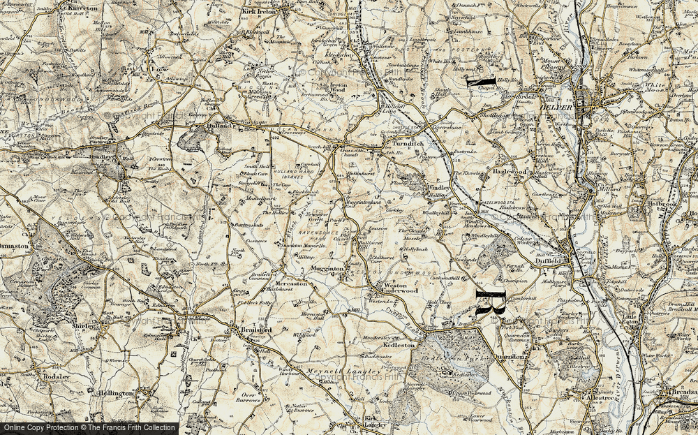 Old Map of Historic Map covering Leasow in 1902
