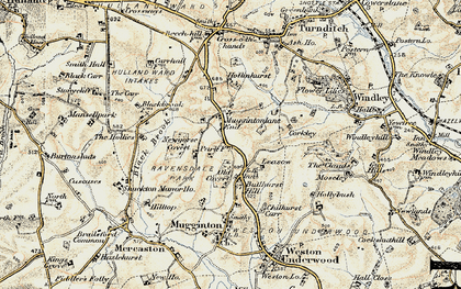 Old map of Leasow in 1902