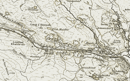Old map of Lettie River in 1910-1912