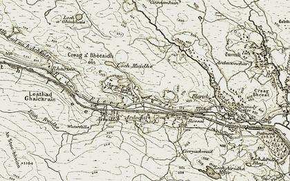 Old map of Leathad Ghaicarain in 1910-1912