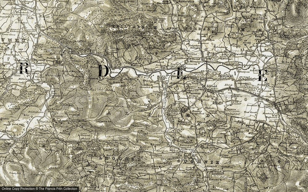 Old Map of Historic Map covering Badens in 1908-1910