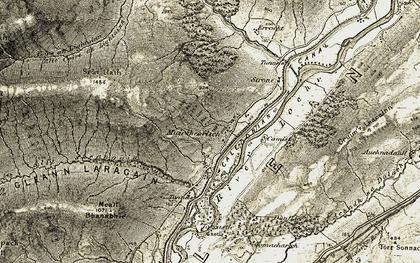Old map of Allt Coire an Lightuinn in 1906-1908