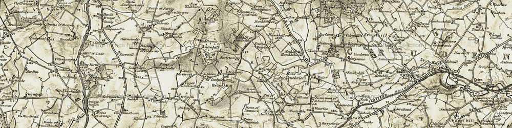 Old map of Toll of Birness in 1909-1910