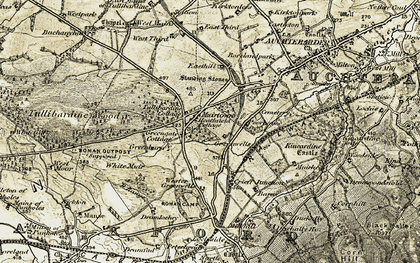 Old map of White Muir in 1906-1908