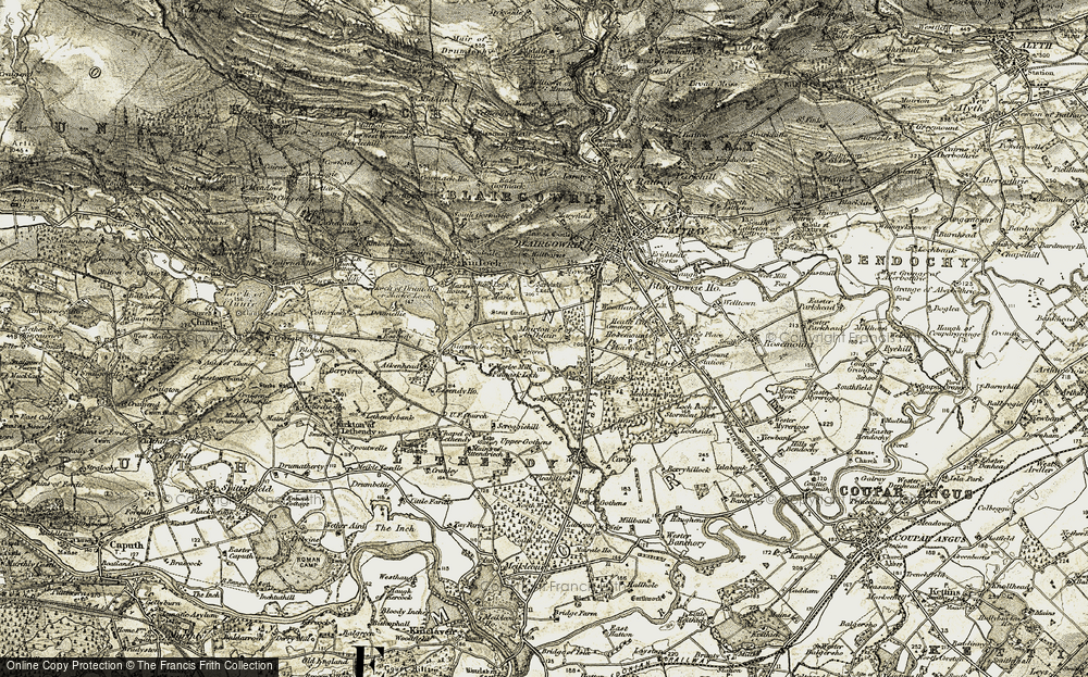Old Map of Historic Map covering White Loch in 1907-1908